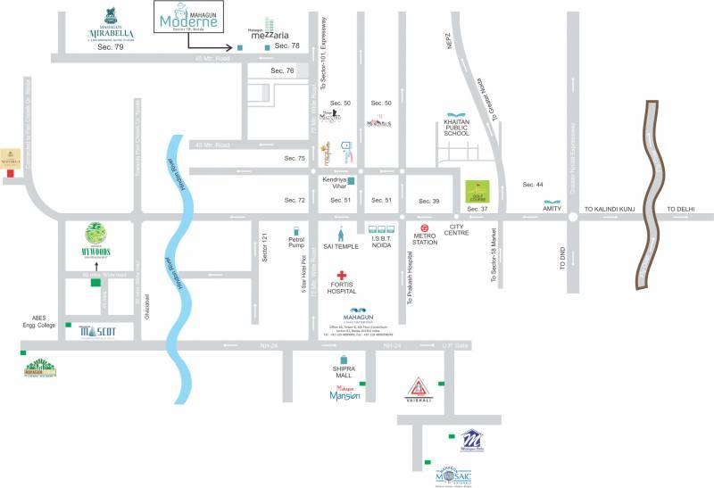 Images for Location Plan of Mahagun Moderne