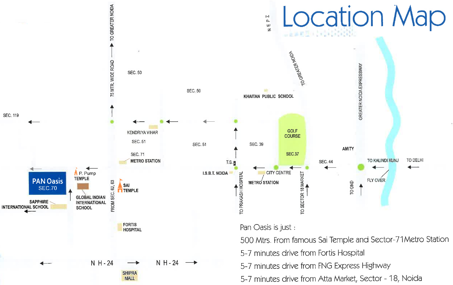 1839 sq ft 3 BHK 3T Apartment for Sale in Amrapali Group Pan