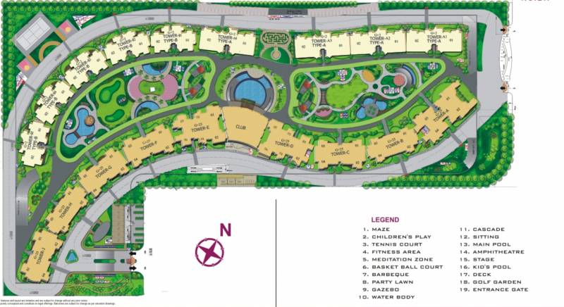 Images for Site Plan of Amrapali Platinum