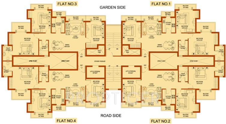 Images for Cluster Plan of Amrapali Platinum