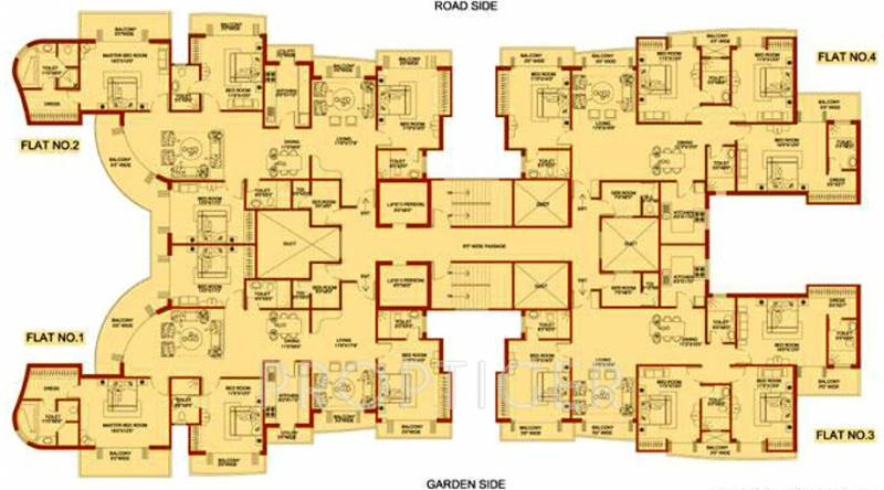 platinum Images for Cluster Plan of Amrapali Platinum
