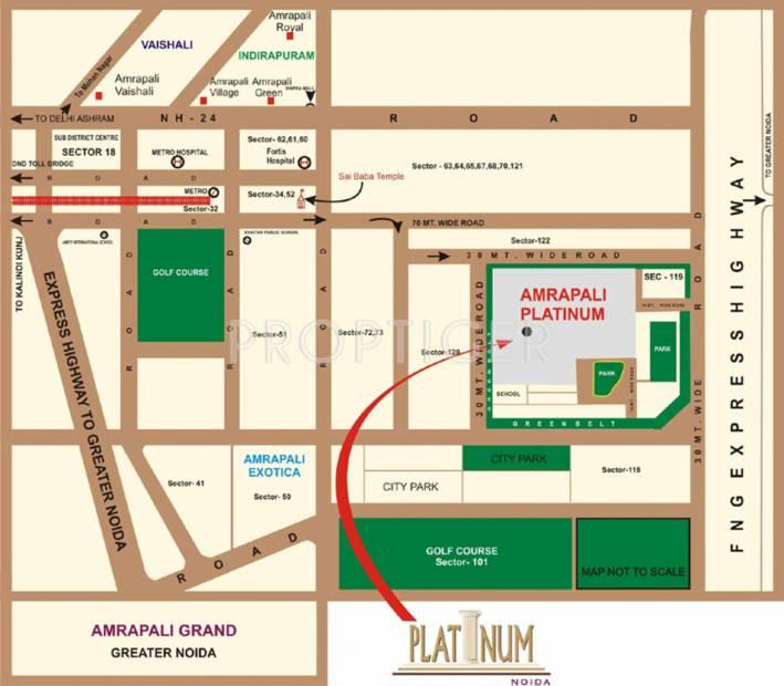 platinum Images for Location Plan of Amrapali Platinum