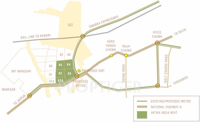 inxt-floors Images for Location Plan of Vatika INXT Floors
