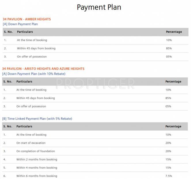 Images for Payment Plan of Supertech 34 Pavilion