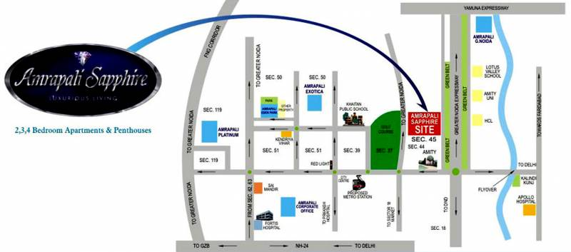 Images for Location Plan of Amrapali Sapphire