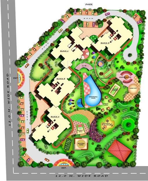Images for Layout Plan of Amrapali Eden Park