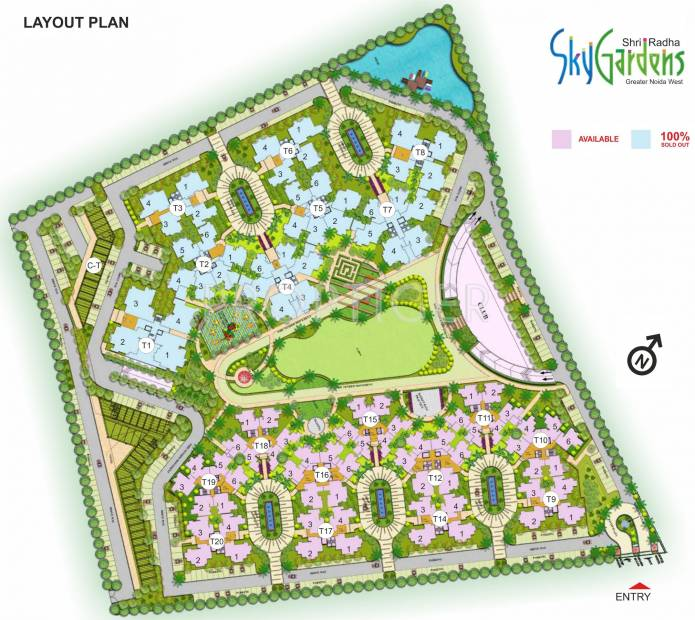 Images for Layout Plan of Shri Radha Sky Gardens