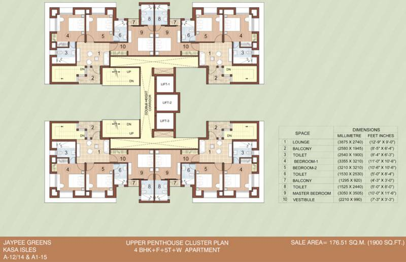 kasa-isles Images for Cluster Plan of Jaypee Kasa Isles