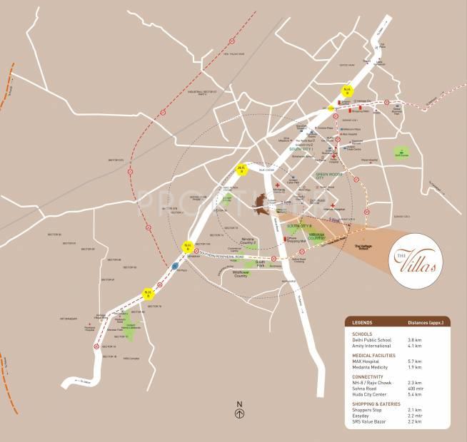 the-villas Images for Location Plan of Unitech The Villas