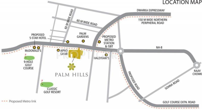 palm-hills Images for Location Plan of Emaar Palm Hills