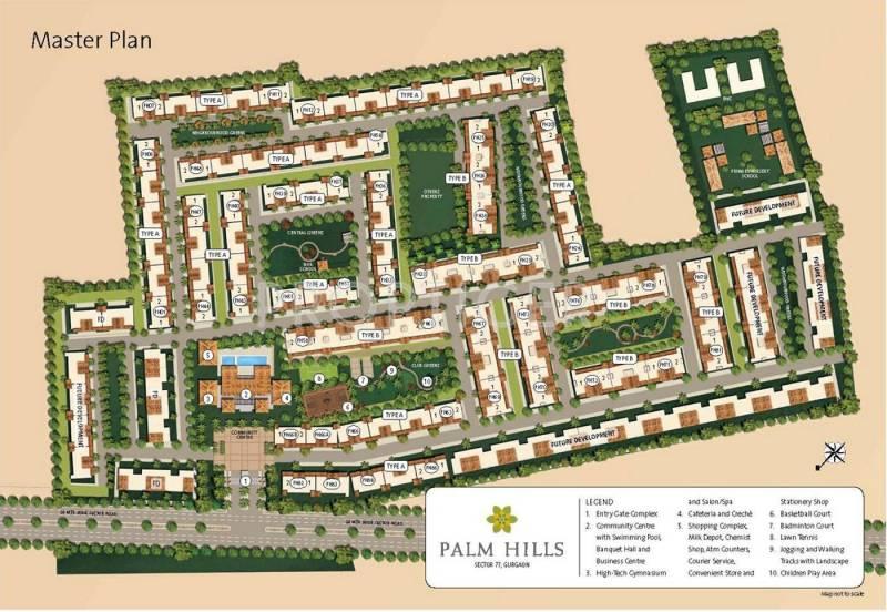 Master Plan Emaar India Palm Hills Sector 77 Gurgaon