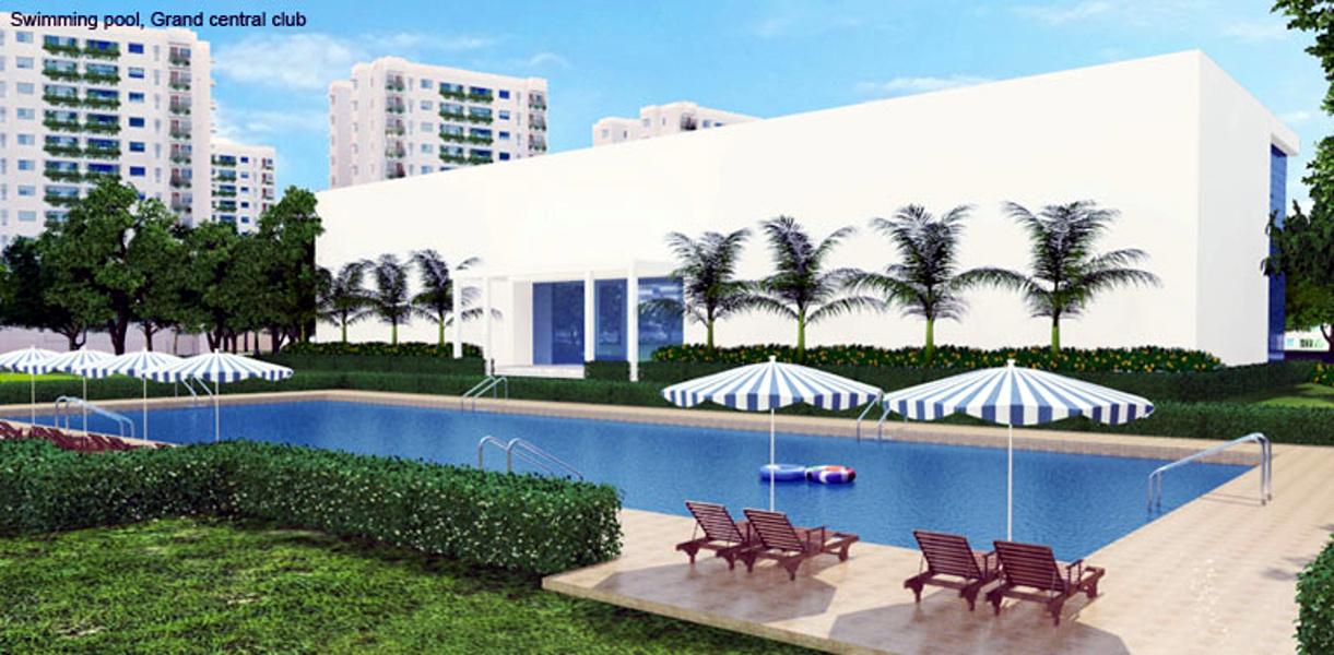 Godrej garden city in near nirma university on sg highway for Garden city pool