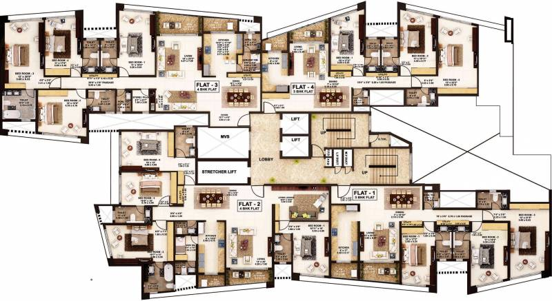 oriana Images for Cluster Plan of Rustomjee Constructions Oriana