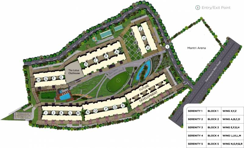 Images for Master Plan of Mantri Serenity