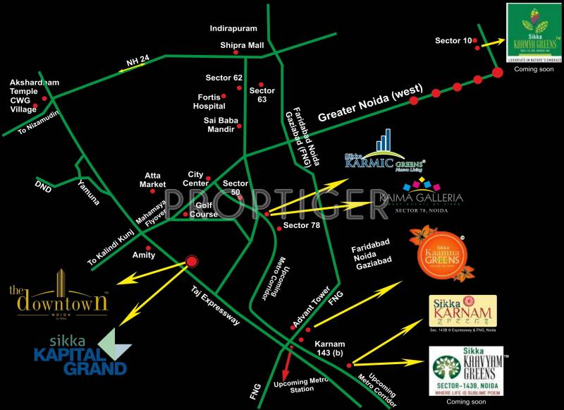 Images for Location Plan of Sikka Kaamna Greens