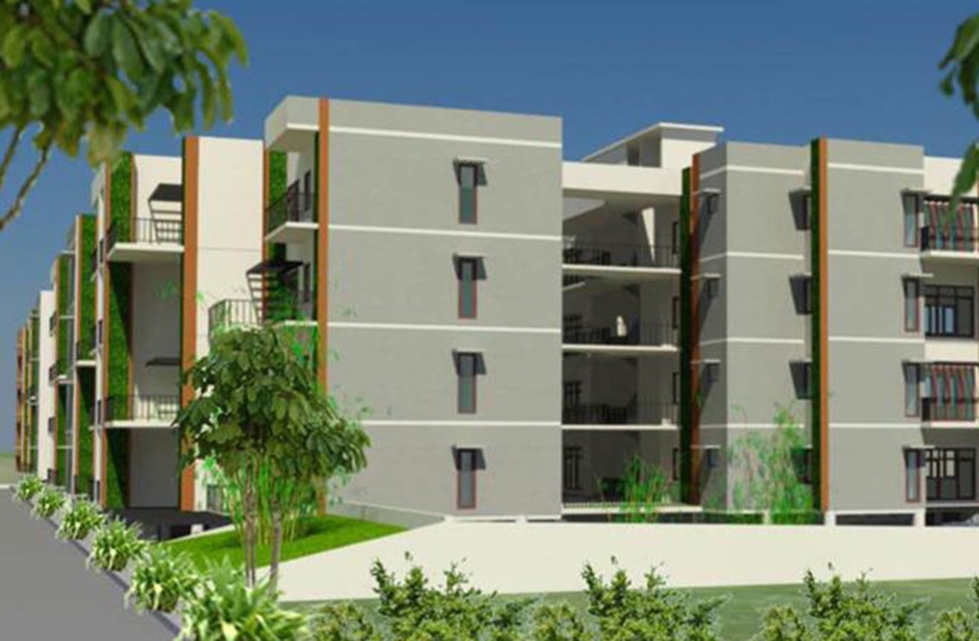 Wood Elevation Jersey : Sq ft bhk t apartment for sale in zed builder