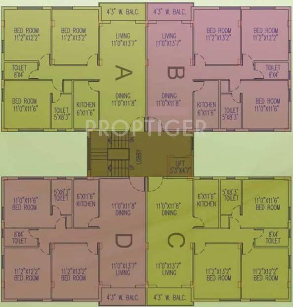 Images for Cluster Plan of Jain Dream Residency Manor