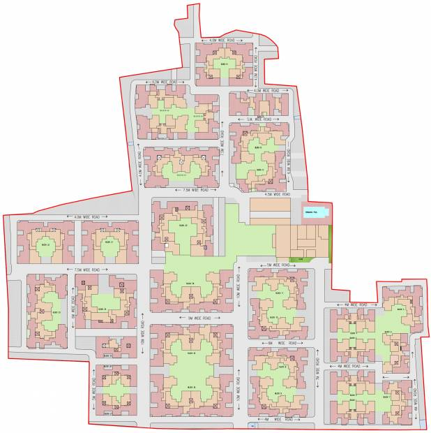 town Images for Layout Plan of Siddha Town