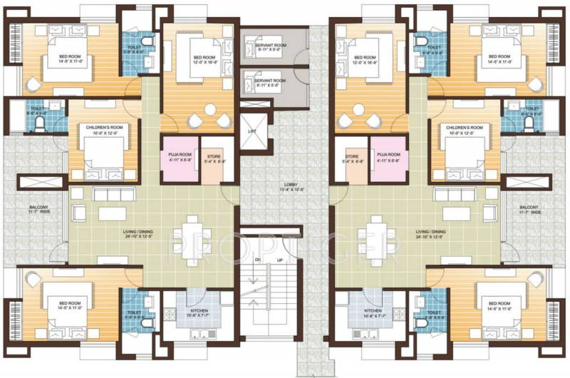 Images for Cluster Plan of Vedic Realty Sanjeeva Gardens
