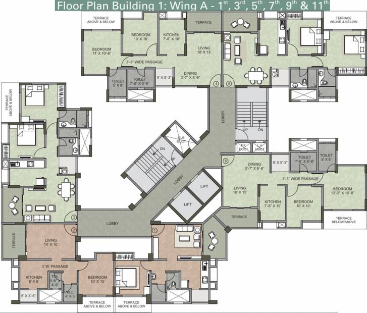 serenity Images for Cluster Plan of Kalpataru Serenity