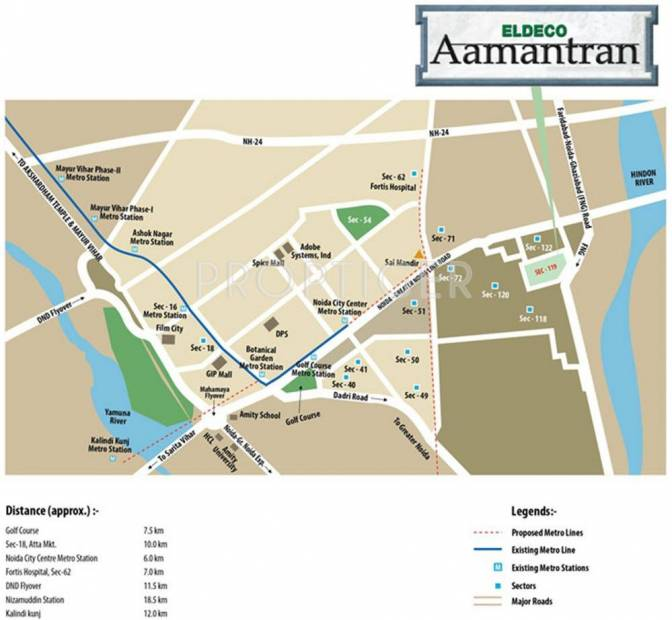 Images for Location Plan of Eldeco Swagatam