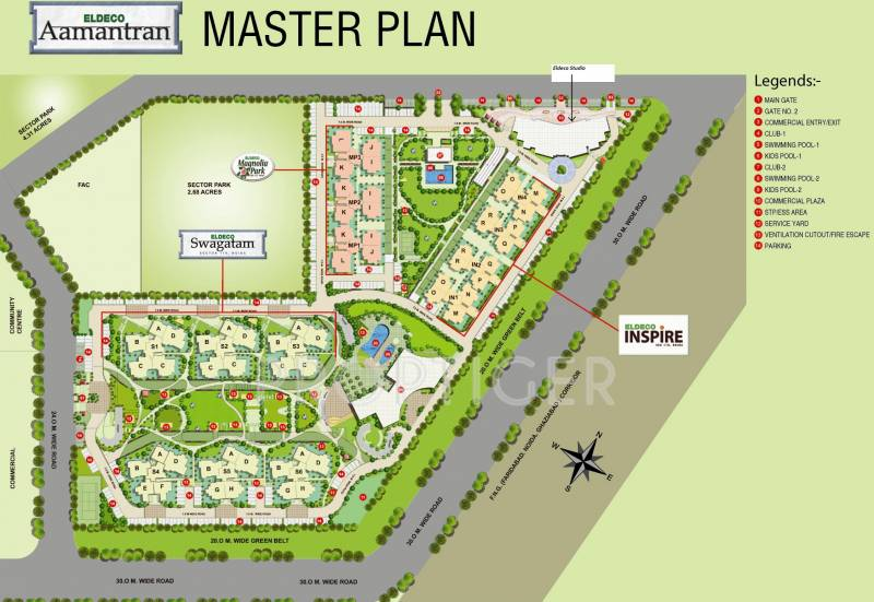 Images for Master Plan of Eldeco Swagatam