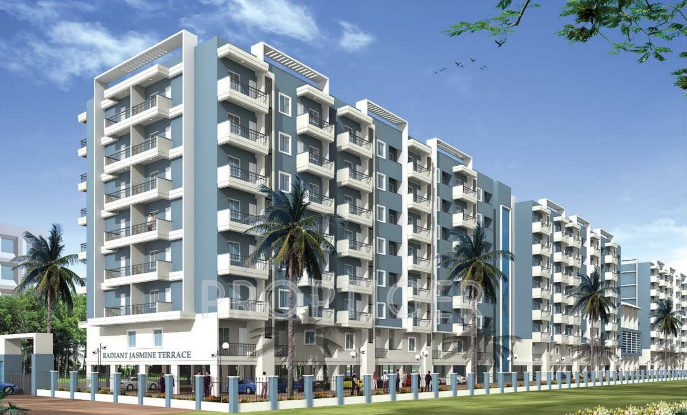 940 sq ft 2 bhk 2t apartment for sale in radiant for Terrace elevation