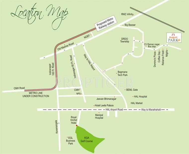 Cv Raman Nagar Bangalore Map Image of Location Map of August Park CV Raman Nagar Bangalore