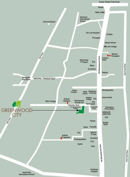 Images for Location Plan of Arihant Greenwood City