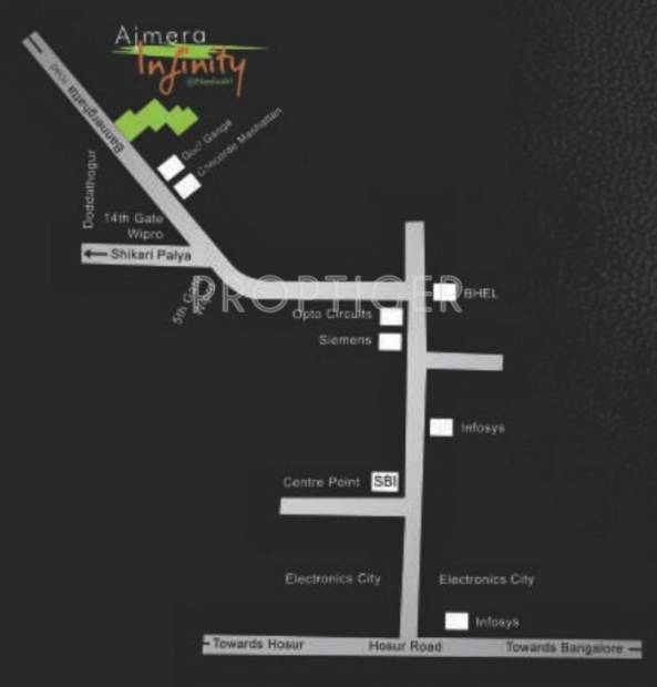 infinity Images for Location Plan of Ajmera Infinity