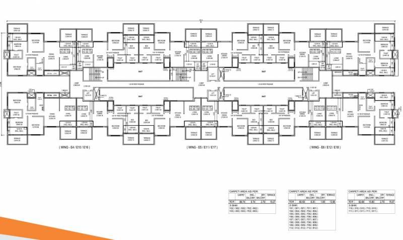 ivy-apartments Block E4 Cluster Plan