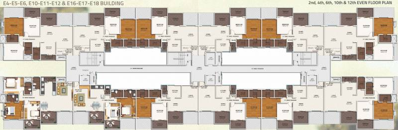 ivy-apartments Images for Cluster Plan of Kolte Patil IVY Apartments