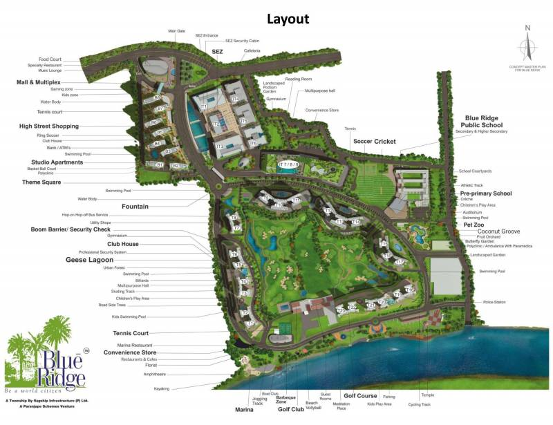Images for Layout Plan of Paranjape Blue Ridge
