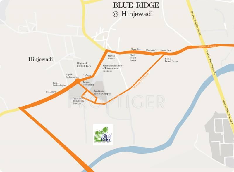 Images for Location Plan of Paranjape Blue Ridge