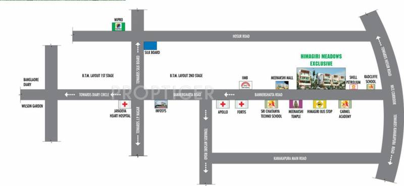 meadows Images for Location Plan of Himagiri Meadows