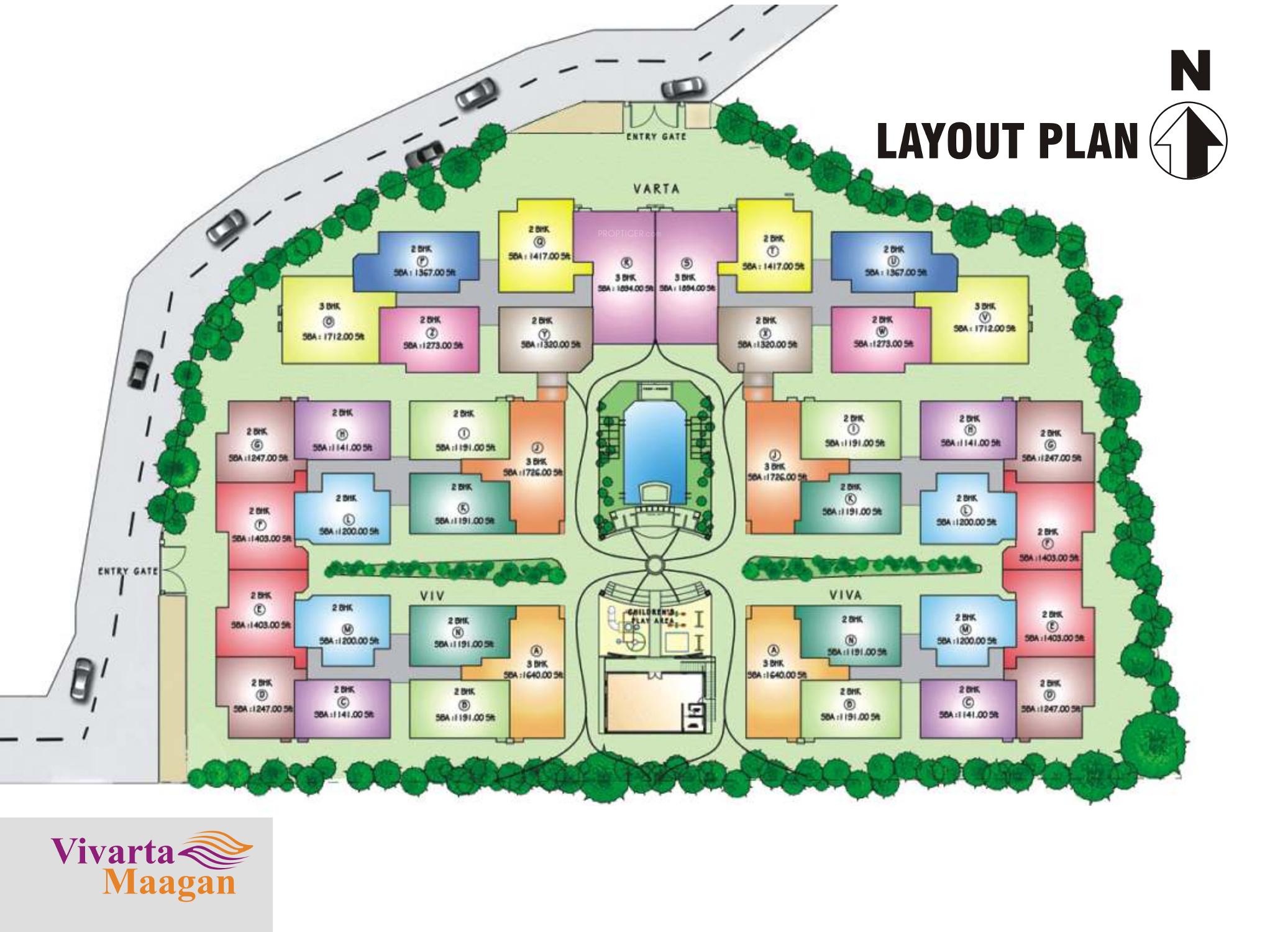 1020 sq ft 2 bhk 2t apartment for sale in daya mk vivarta for 4 bhk plan layout