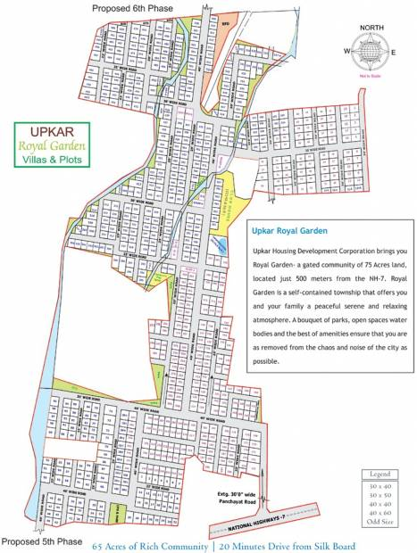Images for Site Plan of Upkar Royal Garden Villas
