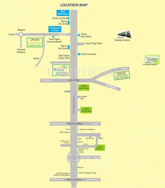 Images for Location Plan of Upkar Royal Garden Villas