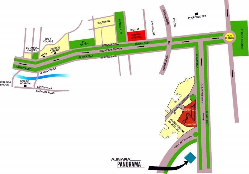 Images for Location Plan of Ajnara Panorama