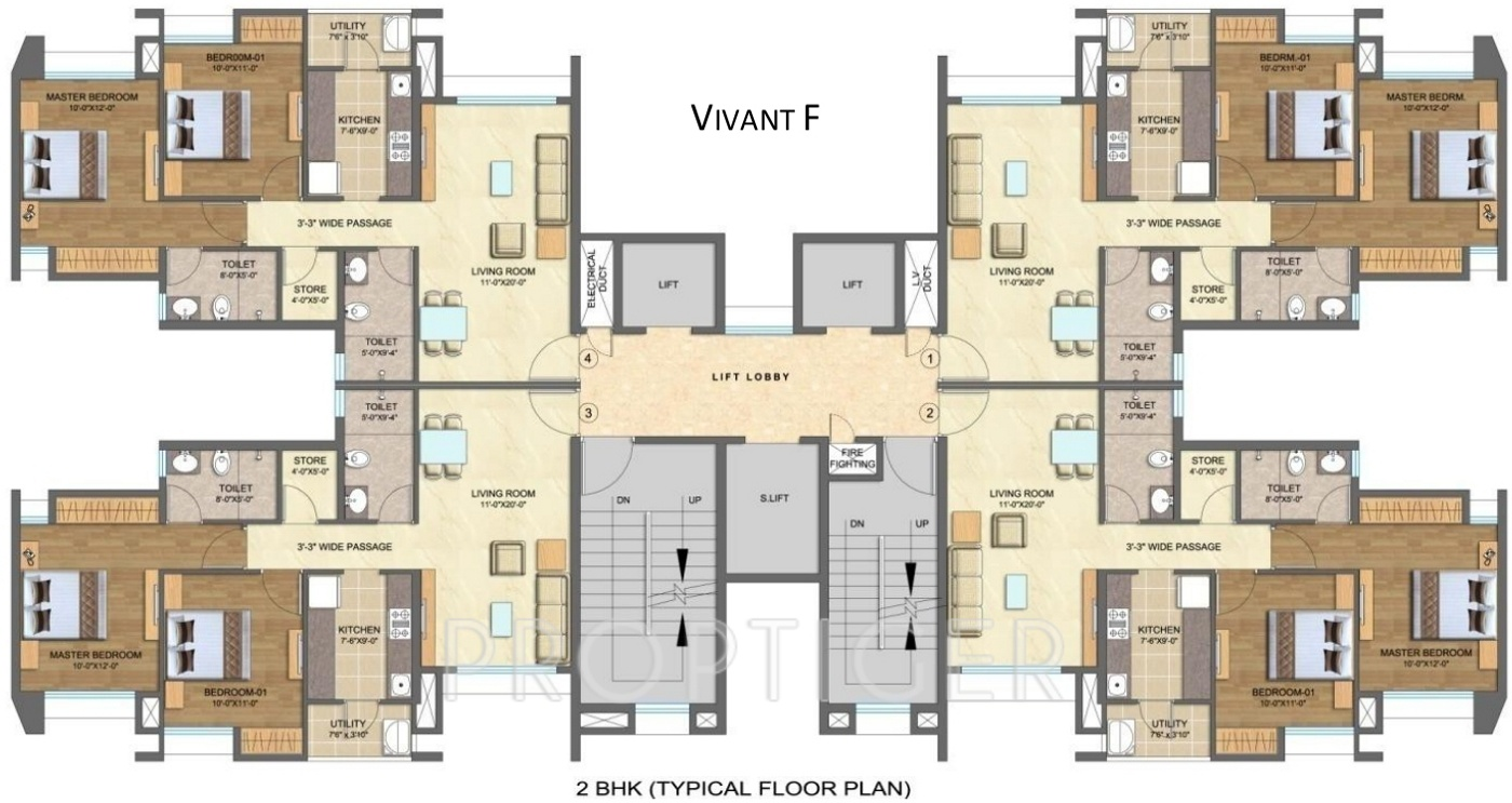 1206 Sq Ft 2 Bhk 2t Apartment For Sale In Lodha Group