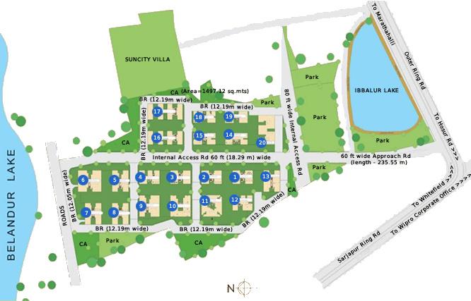 Corporate suncity apartments in bellandur bangalore for Apartment master plans