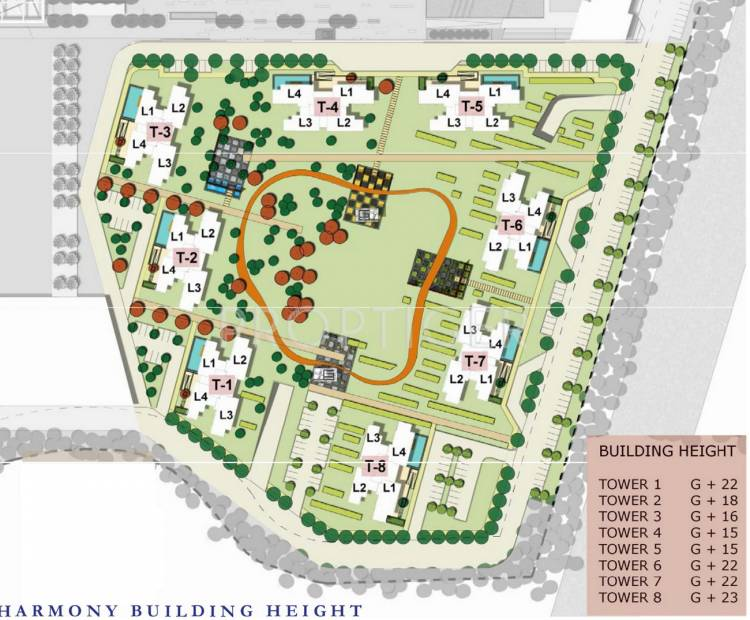 Images for Site Plan of Unitech Harmony