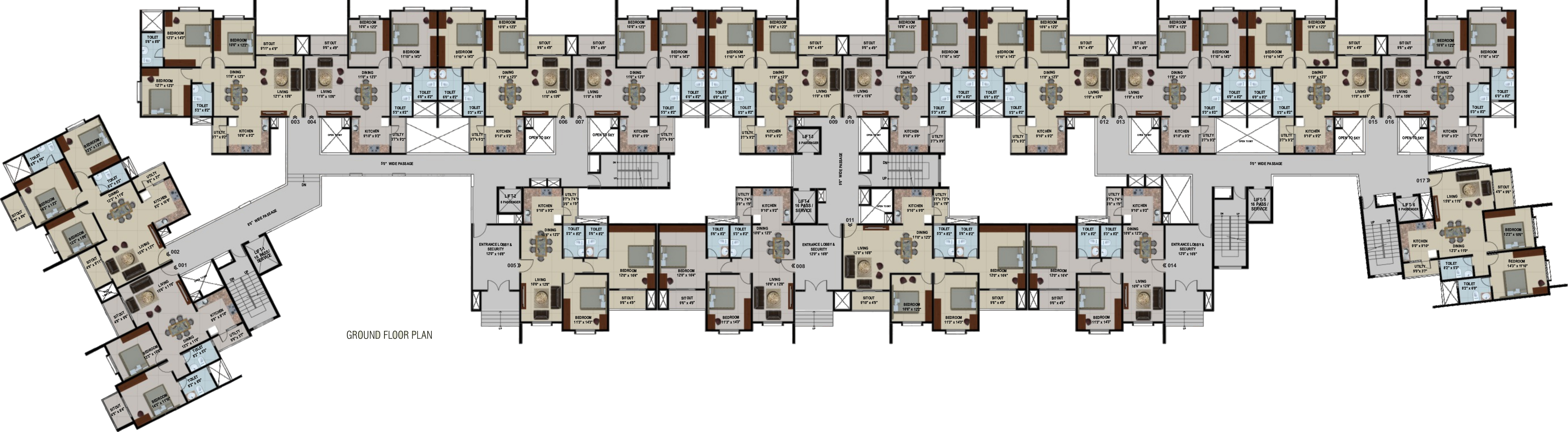 1050 sq ft 2 bhk 2t apartment for sale in corporate for 1050 sq ft floor plans
