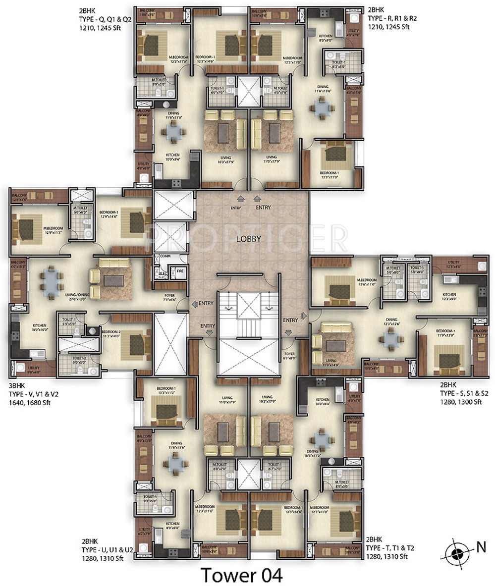 1820 Sq Ft 3 BHK 3T Apartment For Sale In Golden Gate