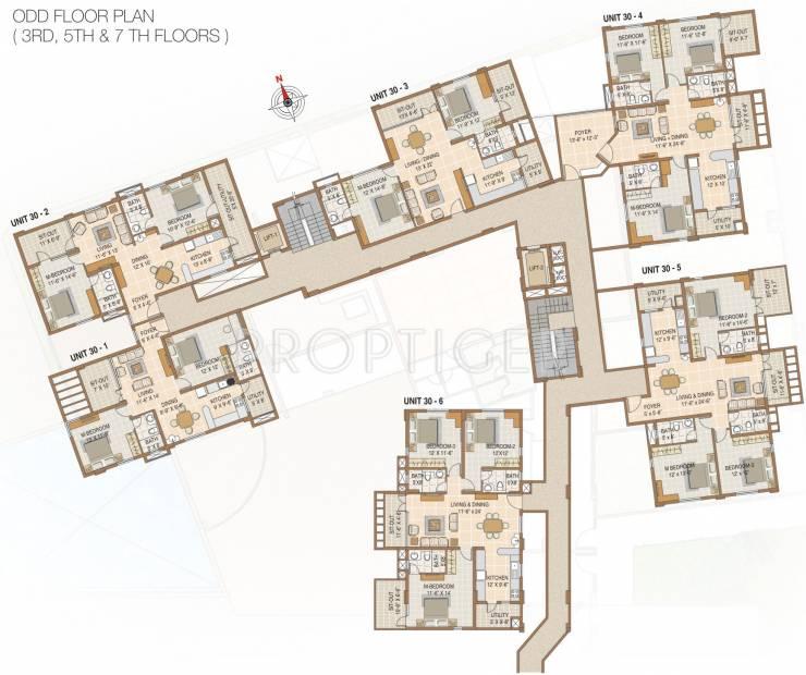 nester raga Block Cedar Odd Floor Cluster Plan