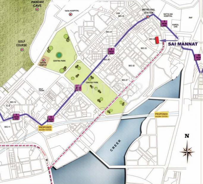 sai-mannat Images for Location Plan of Paradise Sai Mannat