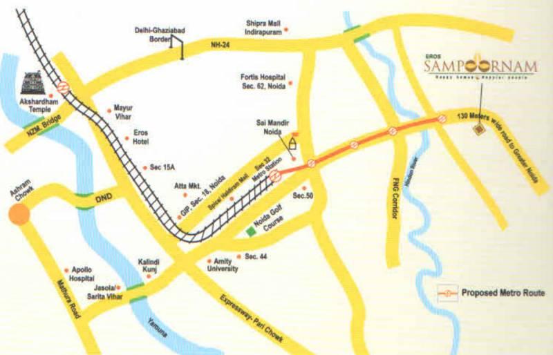 sampoornam-i Images for Location Plan of Eros Sampoornam I