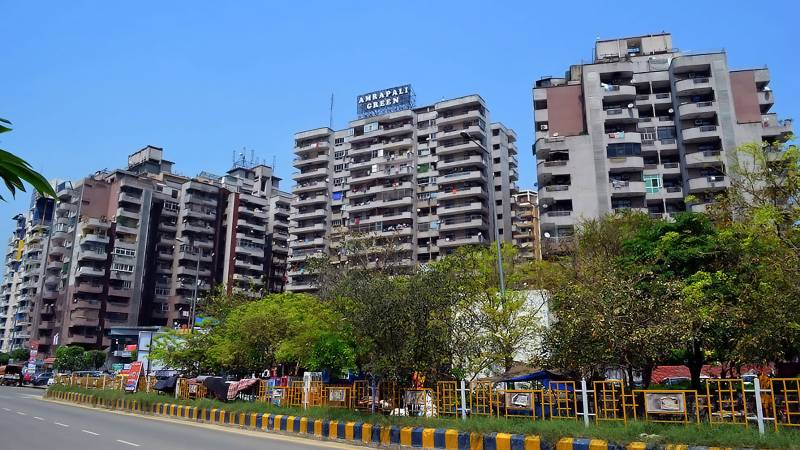 green Images for Elevation of Amrapali Green