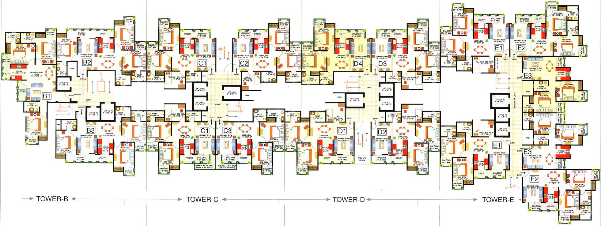 Cloud 9 skylish indirapuram ghaziabad flats in indirapuram price - 3 5
