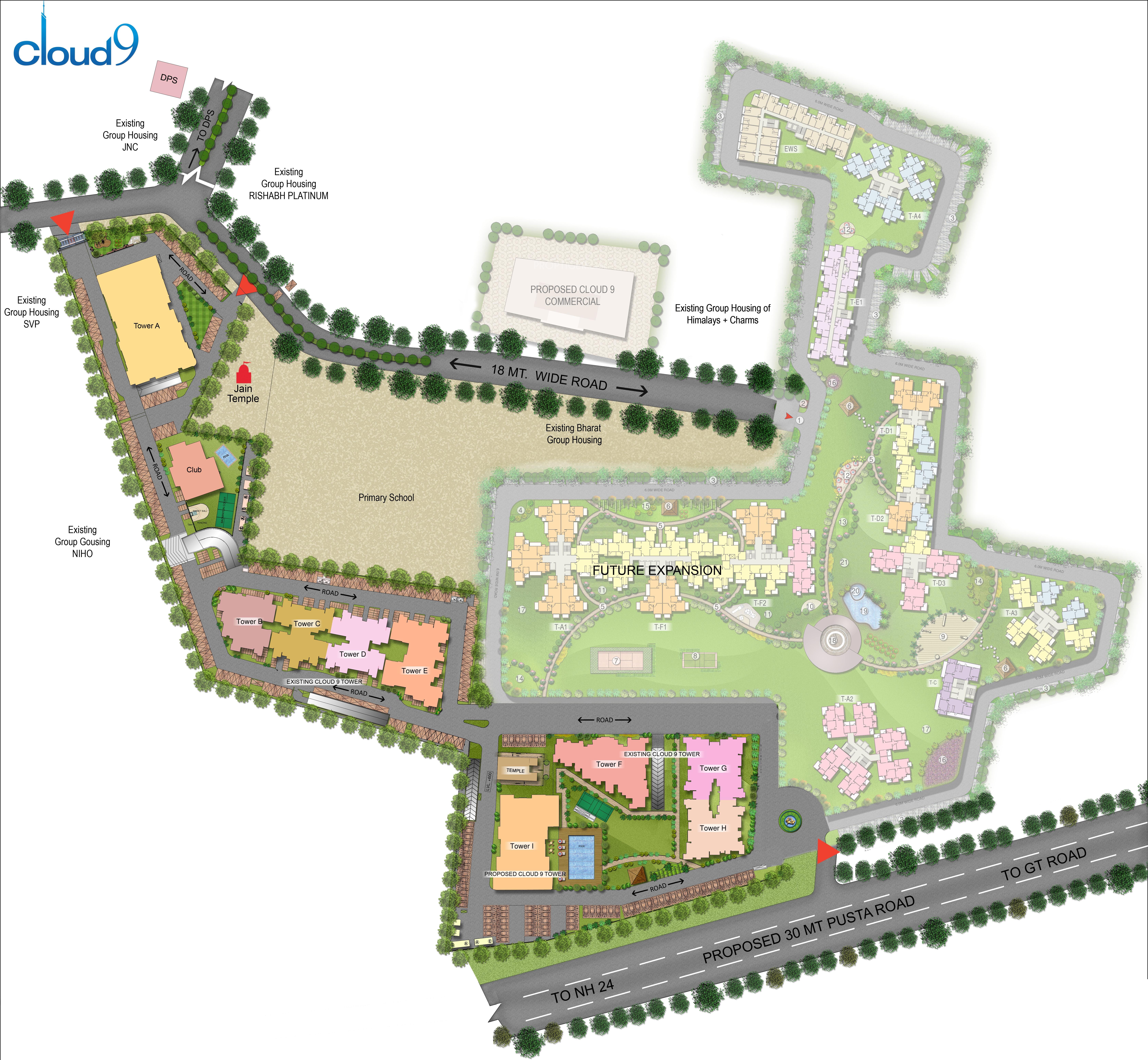 Cloud 9 skylish indirapuram ghaziabad flats in indirapuram price - 2 5